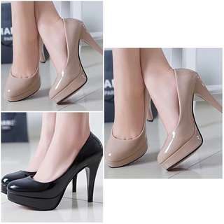 Sepatu High Heels Pesta Wanita Mocca Hitam
