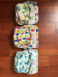 Sweetpea newborn bamboo AIO cloth diapers
