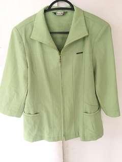 Mint green blazer. Fits S-M