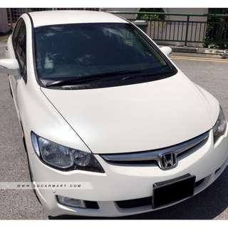 Honda Civic 1.8A (New 5-yr COE)
