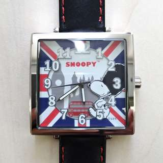 SNOOPY 環遊世界系列限量版方形手錶(英國)