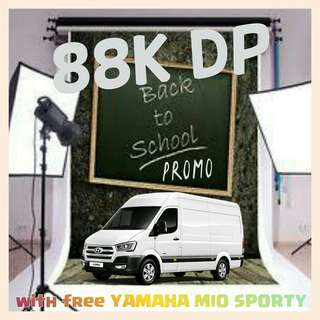 88K DOWN PAYMENT WITH FREE YAMAHA MIO SPORTY. LIMITED UNITS ONLY.