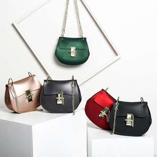 NEW Matte Jelly Bag Chain Strap Sling Bag