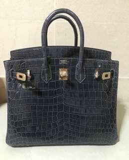 Hermes birkin croco handmade replica bag