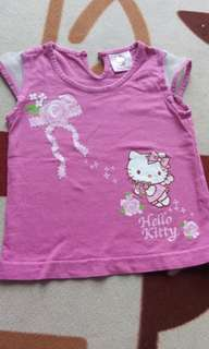 Atasan hello kitty