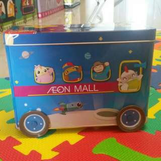 Didi&friend coin bank bus with wheel