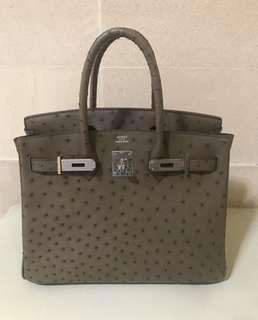 Hermes birkin ostrich handmade replica bag