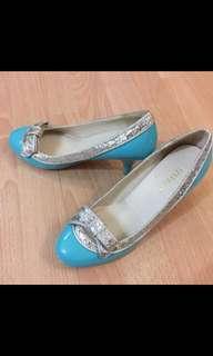 Esperanza Tiffany blue heels 粉藍色高踭鞋
