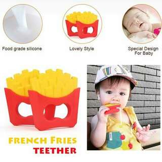 French Fries Silicone Teether