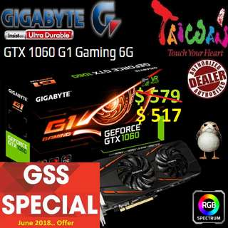 Gigabyte G1 series GTX 1060 G1 Gaming 6G.