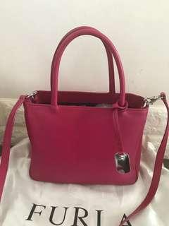 95%new Furla 桃紅Handbag