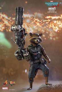 全新(未開封)Hottoys Guardians of the Galaxy vol 2 Rocket Deluxe Version 1/6 Action Figure Hot Toys 銀河守護隊 火箭 人形 Marvel Ironman Starlord Avengers 復仇者聯盟
