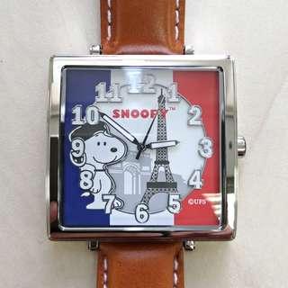SNOOPY 環遊世界系列限量版方形手錶(法國)