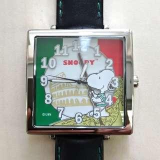 SNOOPY 環遊世界系列限量版方形手錶(意大利)