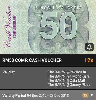 Discounted 2@RM50 Cash Vouchers