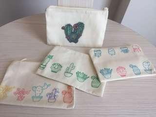 Pouch / dompet canvas untuk souvenir