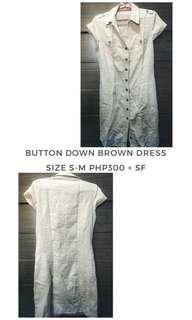 Cache Cache Button Down Dress