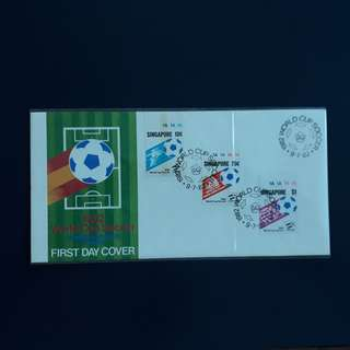 SGFDC 82. 1982-07-09 Singapore FDC. -1982 World Cup Soccer Commemorative Stamps.