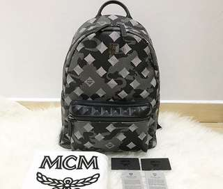 MCM Stark Munich Lion Camo Backpack - Authentic