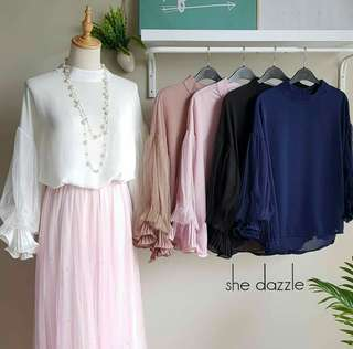 [Ready Stock] Elise Top / Blouse Dinner