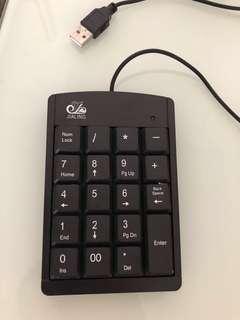 Usb number keypad for mac
