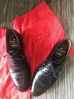 Carmina shoe maker captoe leather shoes