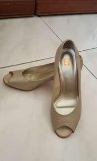 🚚 Ea 金色魚口鞋