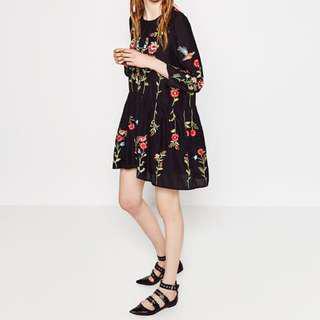 Authentic Zara Embroidery Dress