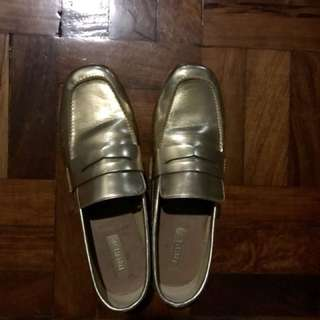 Gold Loafers -used once