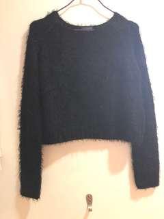 Topshop faux fur sweater