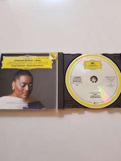CD Jessye Norman - Johannes Brahms . Lieder