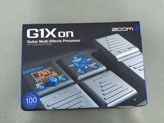 Zoom G1X On Guitar Multi-Effects Processor