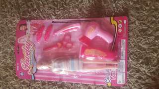 Barbie doll with set