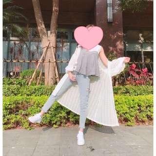 🚚 白色罩衫