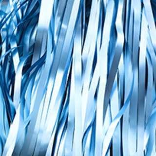 Matte Metallic Tinsel Curtain 1m(W) x 3m(L) - Light Blue