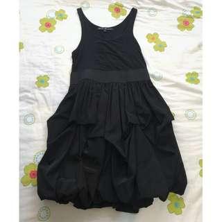 Black Bubble Kamiseta Dress