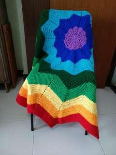 🚚 Handmade crochet ripple blanket