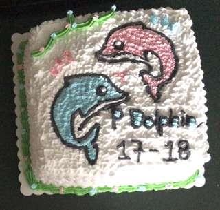 海豚蛋糕 兩磅