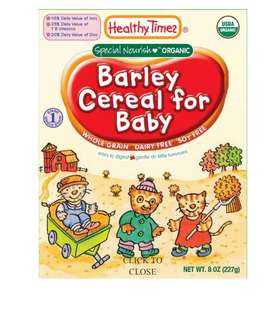 BNIB Healthy times barley cereal for baby