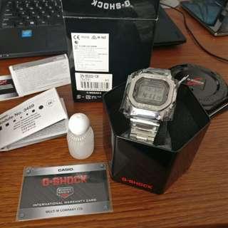 Casio 手錶 Gshock 銀silver B5000D 1D 全新港行