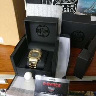 Casio Gshock 全新港行 B50000TFG 9D 金 gold
