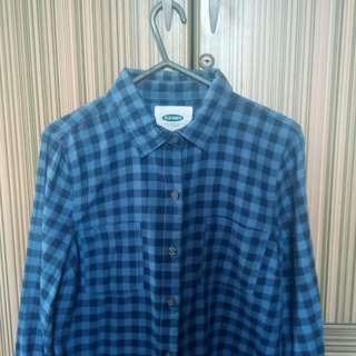 Old Navy Blue Flannel Shirt