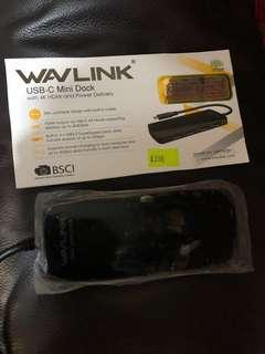 Wavlink USB C Mini lock Apple 電腦專用