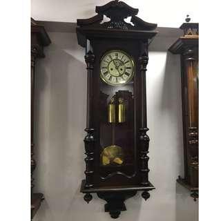 Antique German 2 Weight Clock