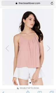 🚚 TCL REINA PLEATED TOP IN NUDE PINK