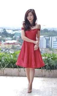Iconette closet red sabrina dress