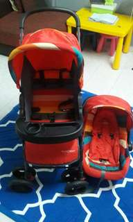 2 in 1 Stroller & Baby Carrier