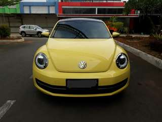 VW Beatle 1.4 AT 2014 Yellow