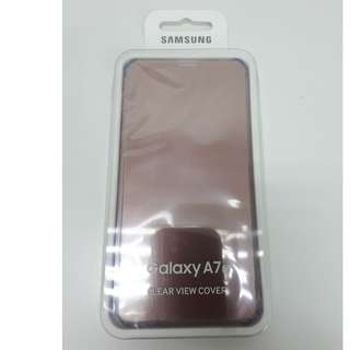 Samsung  A7(2016) Clear view cover Rose Gold
