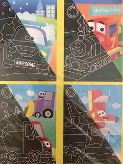 Scratch Art <Pack of 4> Vehicles